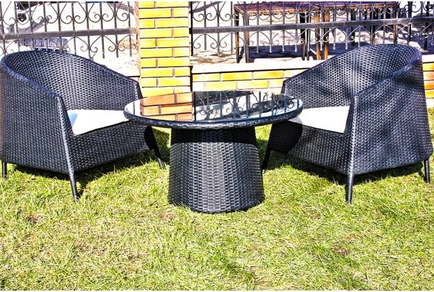 Кресла и кофейный столик из искусственного ротанга В037